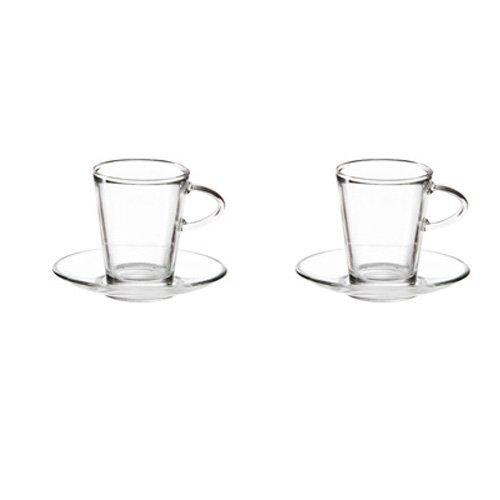 Стъклена чаша с чиниика за филтърно кафе и чай 2бр.